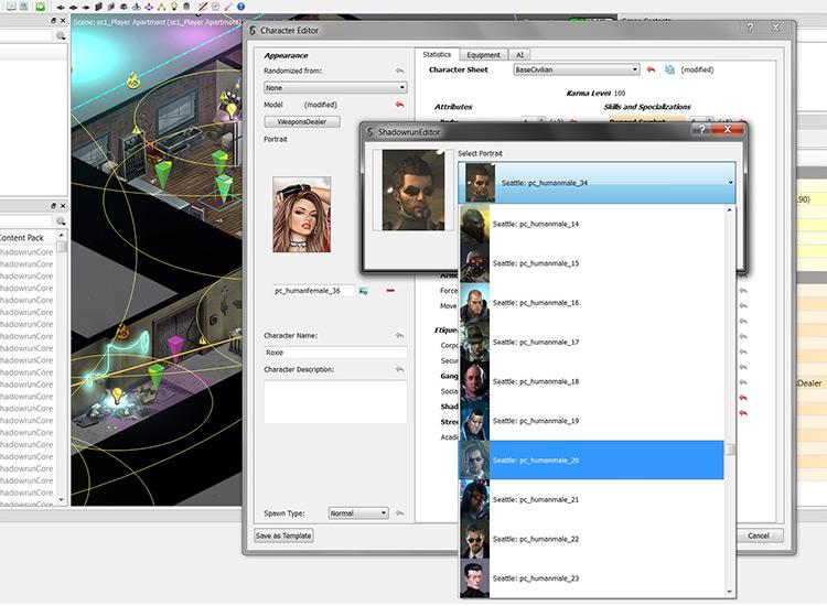 Custom player portraits Shadowrun Returns mod
