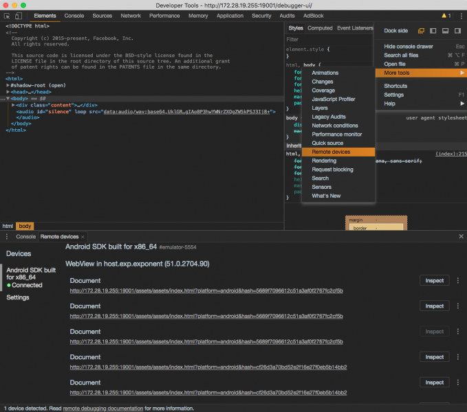 DevTools Chrome