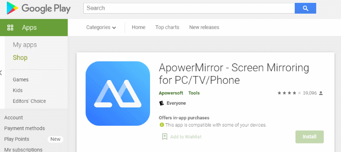Download ApowerMirrorr to your phone.