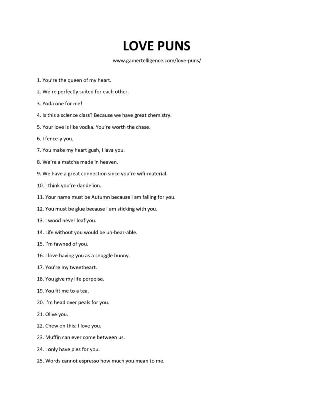 44 Love Puns – A New Way To Confess Your Romantic Feelings