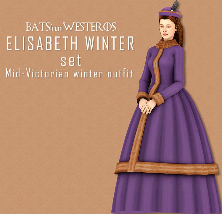 Elisabeth winter set TS4 CC