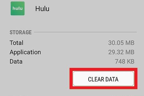 Emptying the Hulu cache on Roku