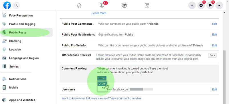 Enable response rating for public messages on Facebook