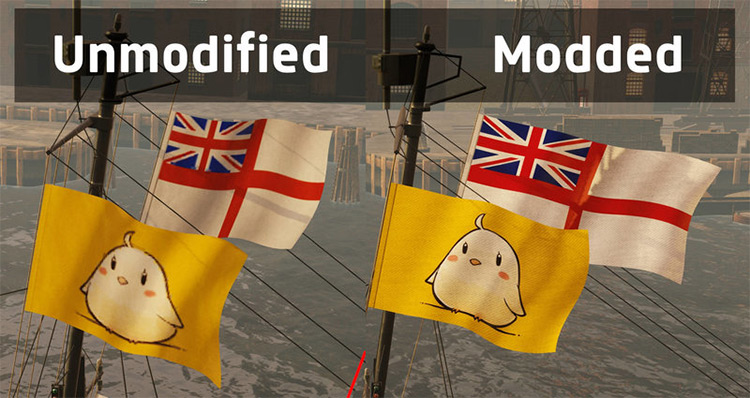 High resolution flags mod World of Warships