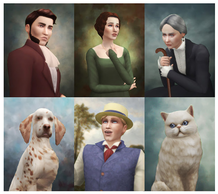 Historical Portraits for The Sims 4