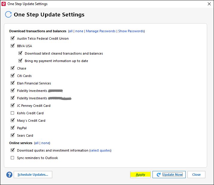 How to Repair Quicken One Step Update Not Working
