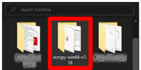 Installing the scrcpy application