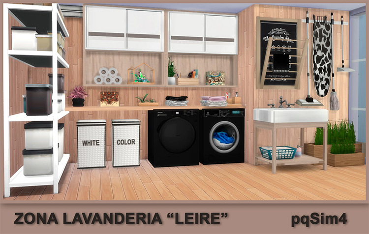 Laundry Liere on pqsim4 for Sims 4