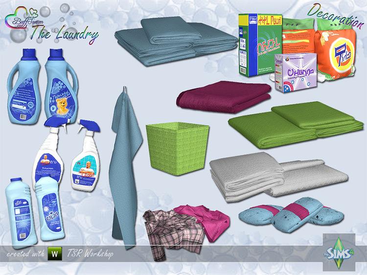 Laundry room - BuffSumm Sims 4 CC Decoration