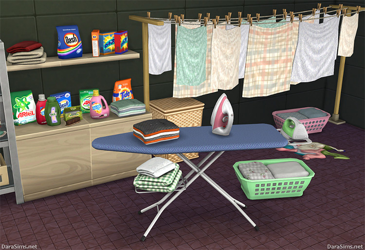 Laundry Set (The Sims 4) by Dara_Savelly (darasims.net) TS4 CC