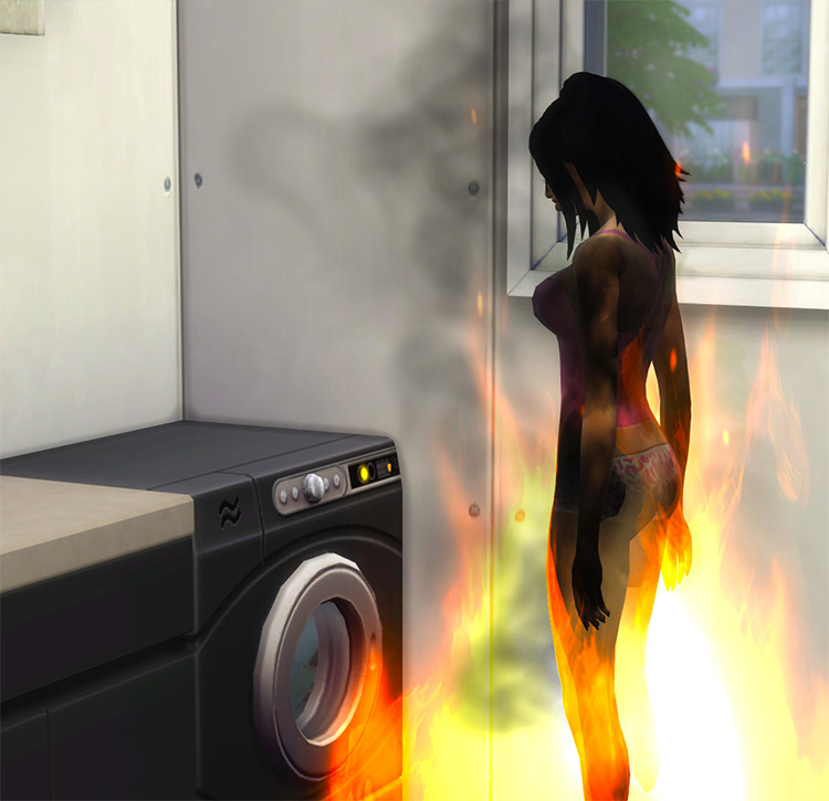 Less fires in the laundry room Rainbow_Brite Sims 4 CC