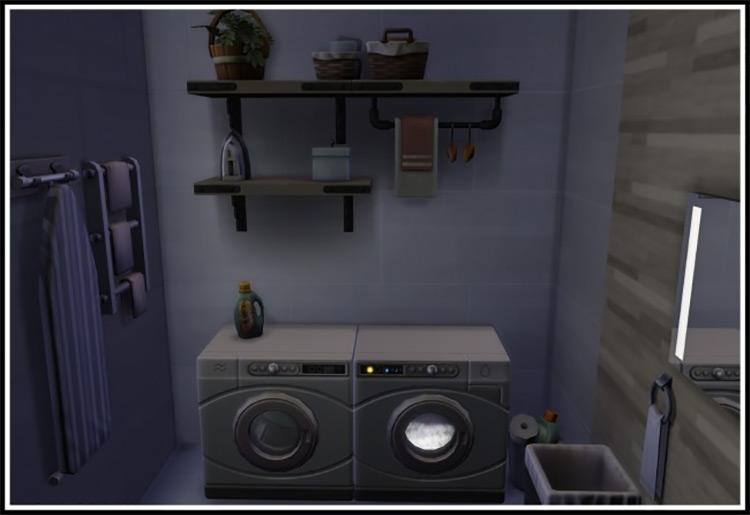 LittleMsSam TS4 CC laundry overhaul