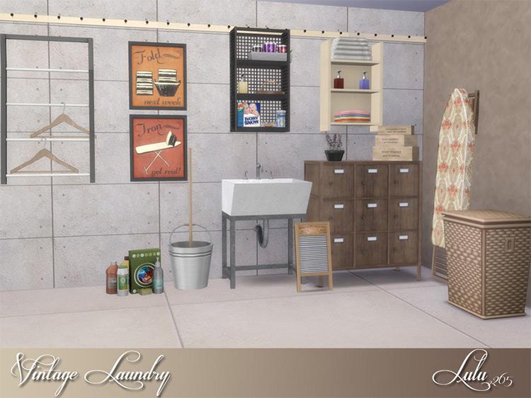Lulu265 Sims 4 CC Vintage Laundry