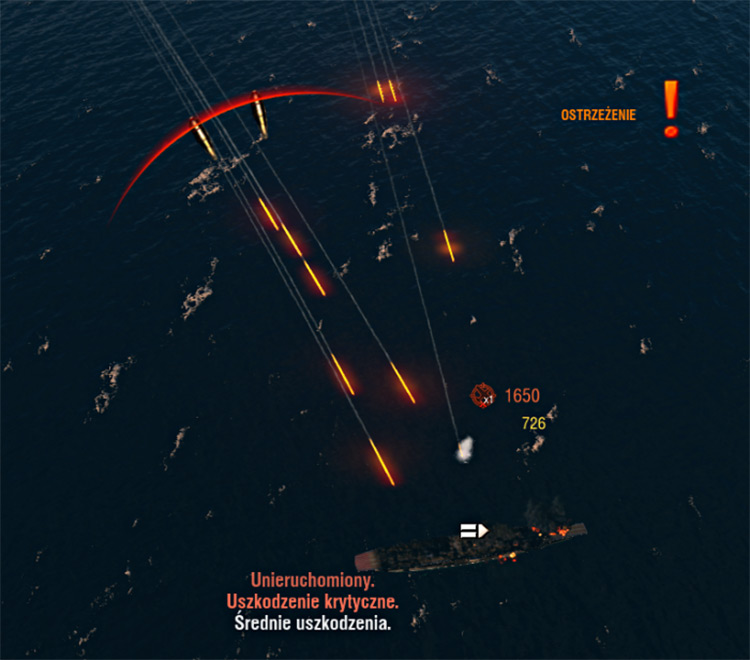 New screenshot of the WoWS mode of Tracer Shells