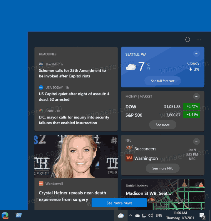 Activate or Deactivate News and Interests Button in Taskbar in Windows 10