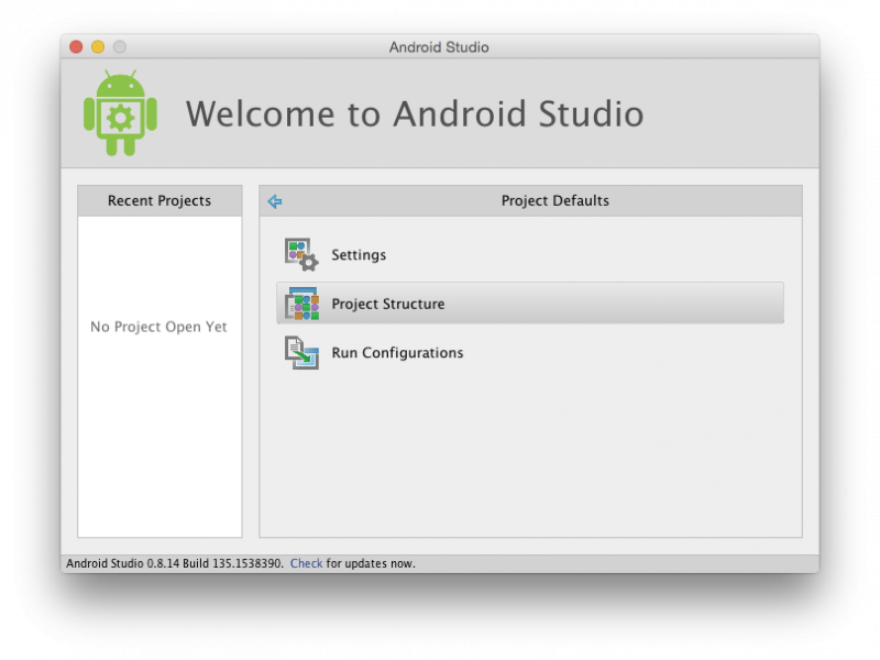 Android Studio SDK Managed Disabled –