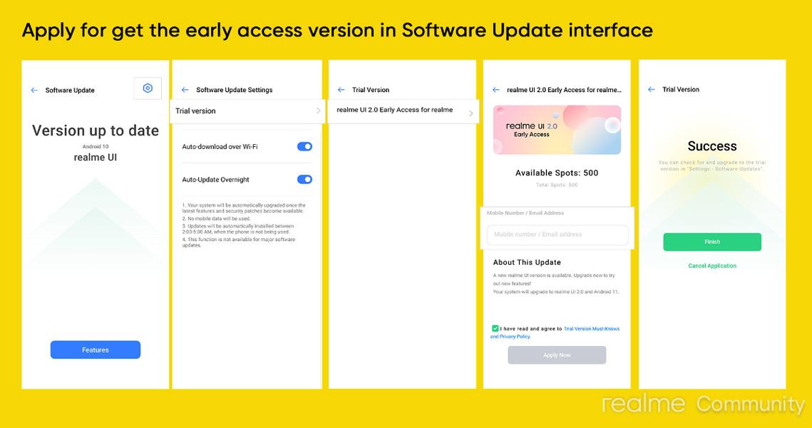 Realme Narzo 20 Realme UI 2.0 Update