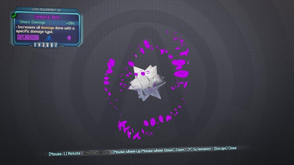 Relic Codes - Borderlands 2 Weapon Codes