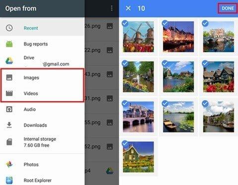 Restoring photos from Google Drive backup