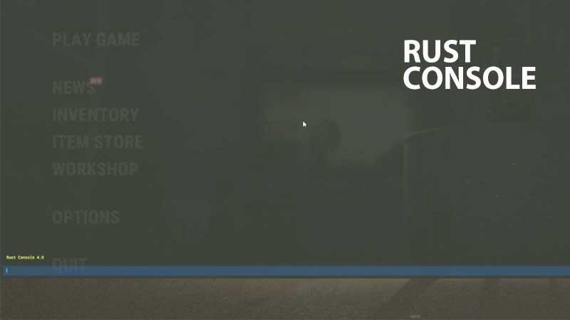 Rust service console commands