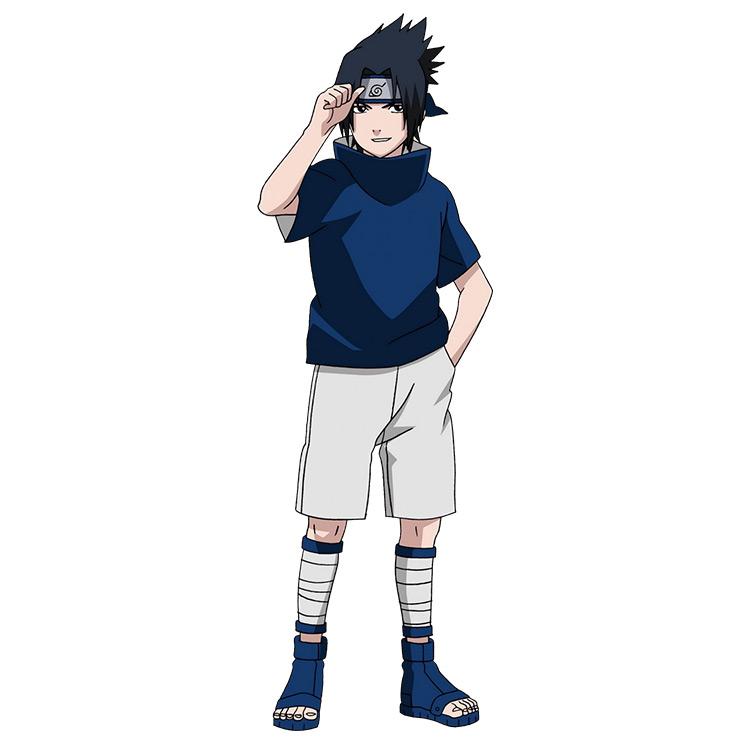 Sasuke Classic Outfit - Naruto Anime Blue and White