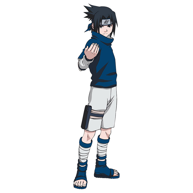 Sasuke with the fake sleeves of the anime Naruto.