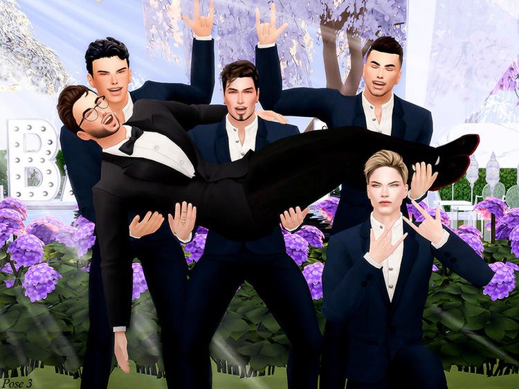 Screenshot of Pose Pack Sims 4 CC