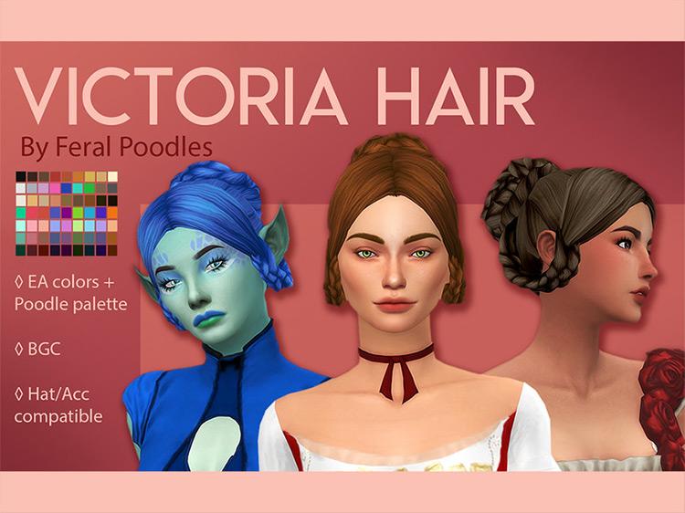 Screenshot of Victoria Hair Sims 4 CC