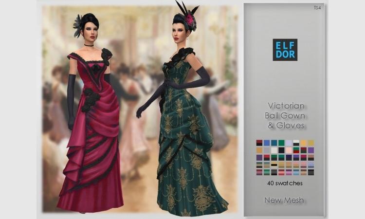 Sims 4 CC Victorian Ball Set