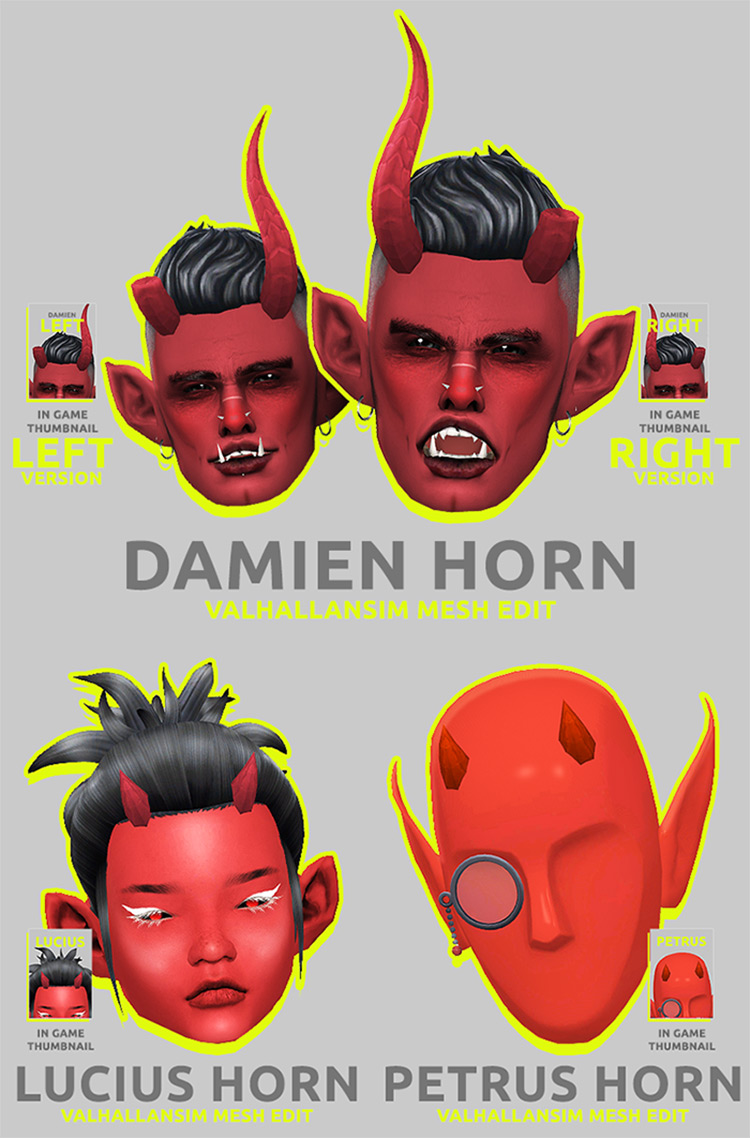 Horns, Tails, Eyes & More –