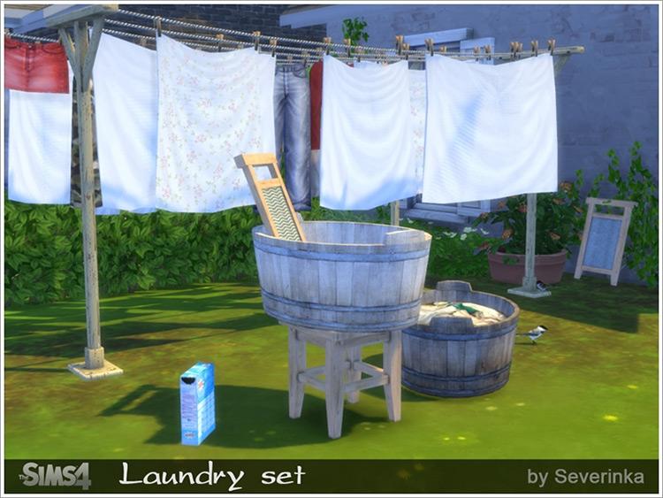 The laundry set up by Severinka Sims 4 CC