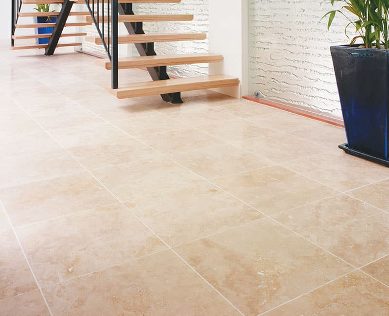 Types of travertine tiles