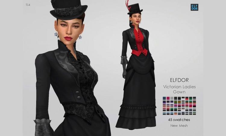 Victorian Women Dress for Sims 4