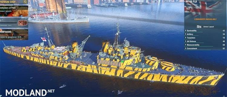 Warship World Camouflage Modification Kit.
