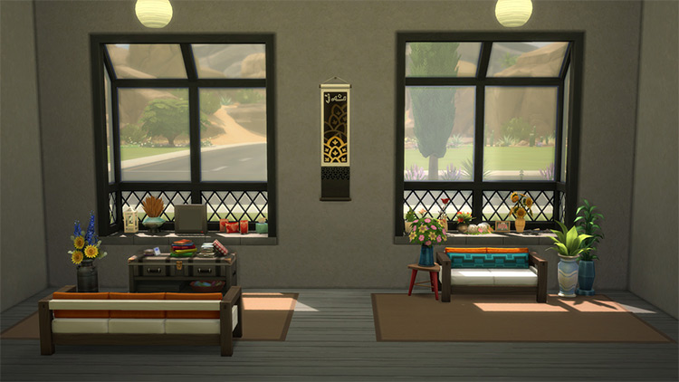 Washday window without the messy slots of the illogical Sims 4 CC