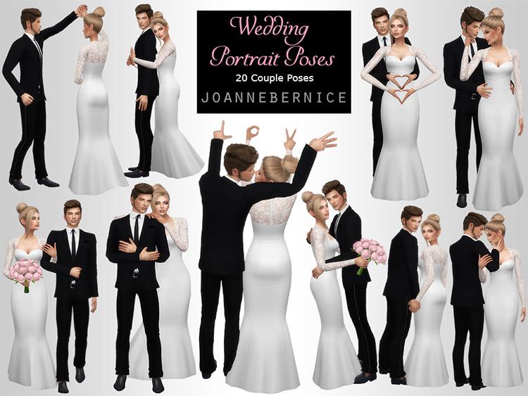 Wedding portrait Pose Sims 4 CC
