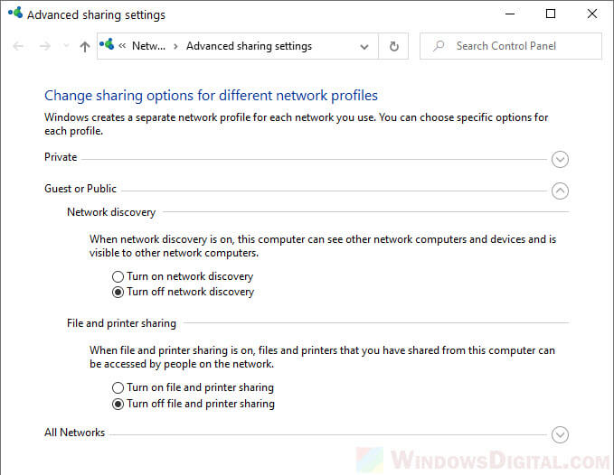 How to Turn On Network Discovery and File Sharing in Windows 10