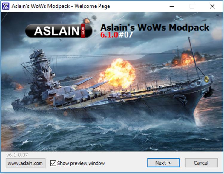 World of Warships from Aslan Modpack.