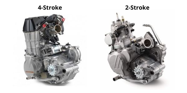 2-stroke dirt bike engine vs 4-stroke dirt bike engine