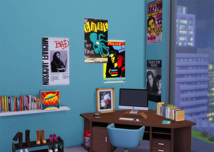80's Posters and Wall Art - TS4 CC