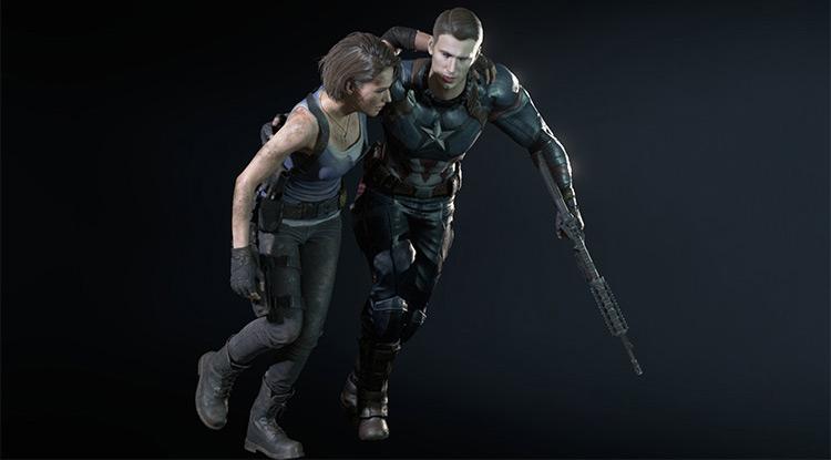 Capt America in Resident Evil 3 Remake