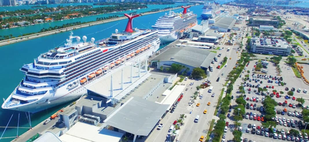 Carnival Cruise Ships Docked in Miami