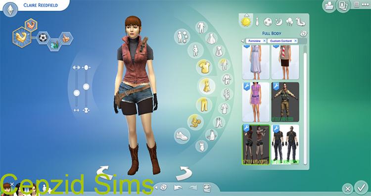 Claire's Original Outfit (RE2) TS4 CC