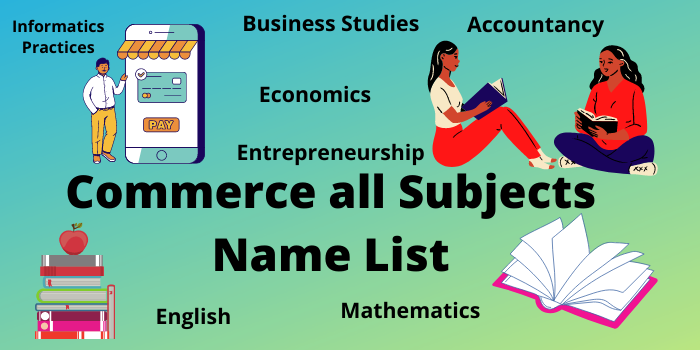 commerce all subjects name list