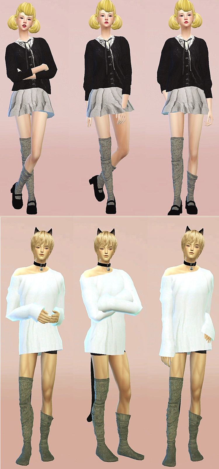 Female Loose Socks + Male Loose Socks by Sims4 Marigold TS4 CC