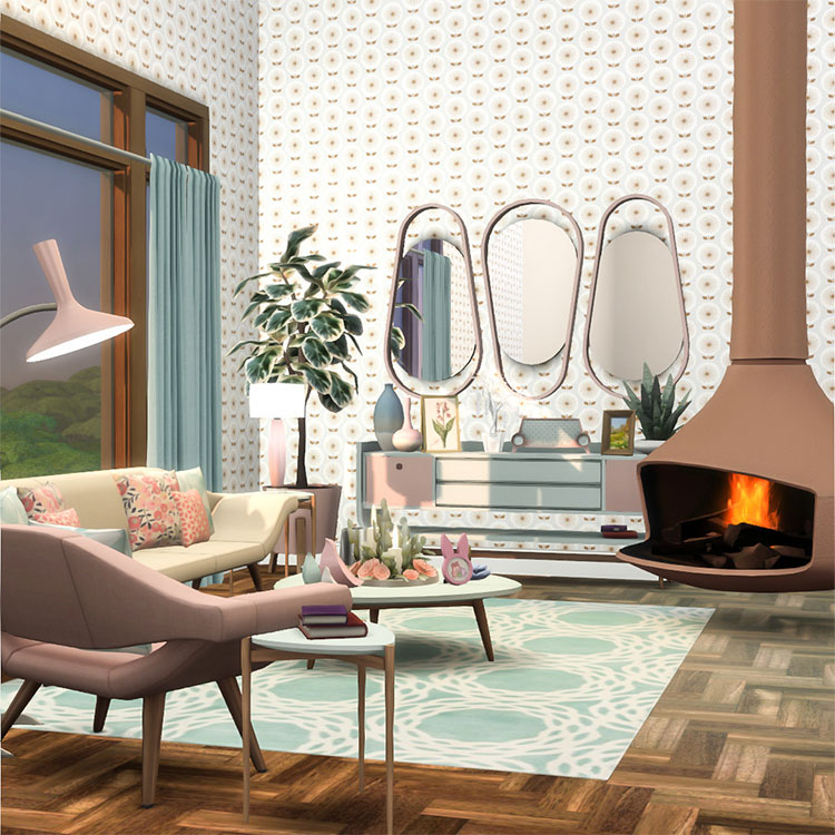 Futura Living and Dining Set - TS4 CC