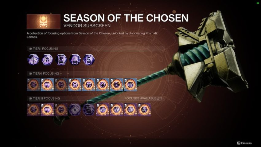 How to focus Umbral Engrams with the Prismatic Recaster in Destiny 2