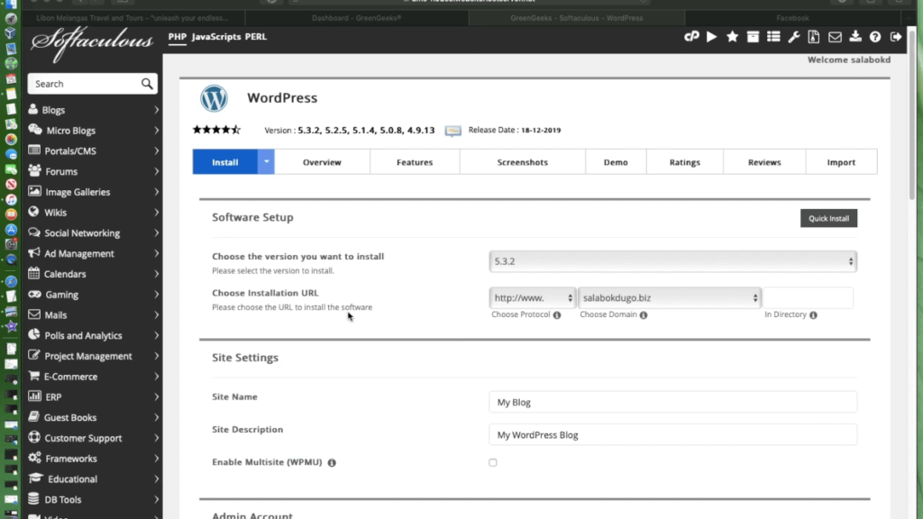 install-wordpress-fashion-site