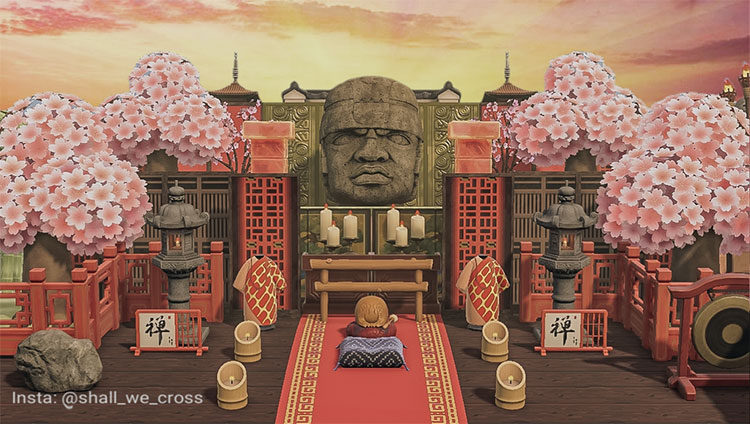 Japanese Temple Emperor Area - ACNH