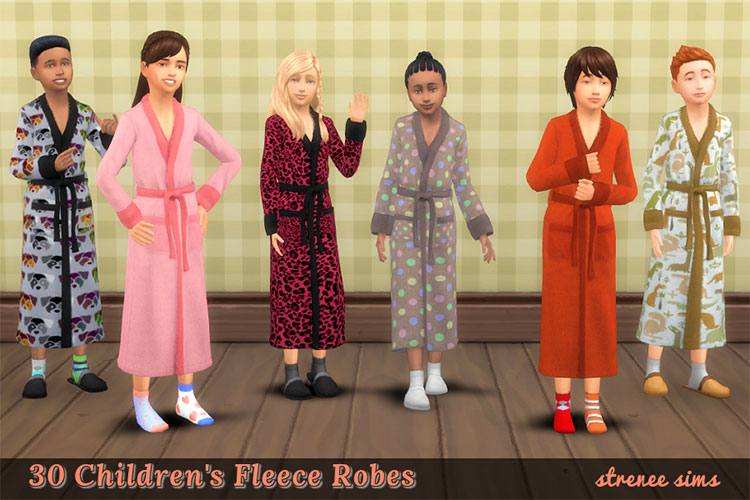 Kids Robes CC Pack for The Sims 4
